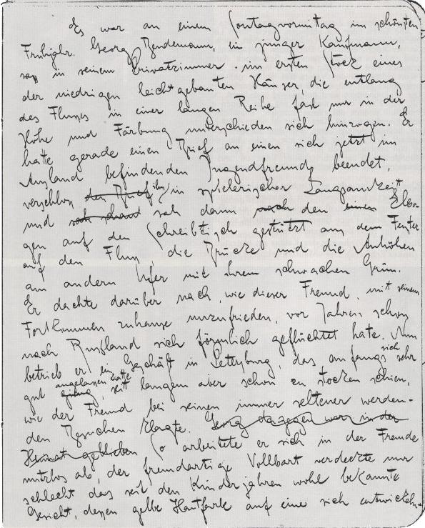 Franz Kafka ~ Das Urteil ~ Handschrift
