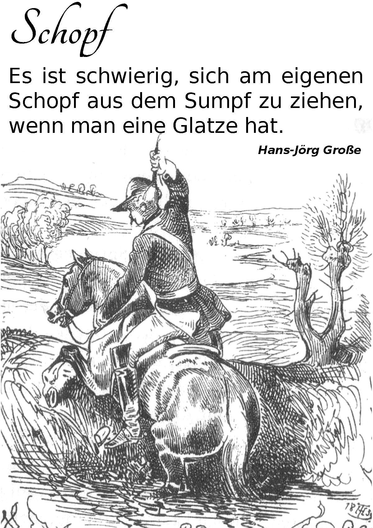 Schopf ~ Aphorismen ~ Hans-Jörg Große
