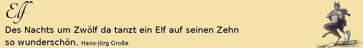 Elf ~ Aphorismen ~ Hans-Jörg Große