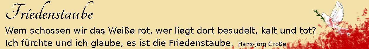 Friedenstaube ~ aphorismen ~ Hans-Jörg Große