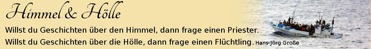 Himmel & Hölle ~ Aphorismen ~ Hans-Jörg Große