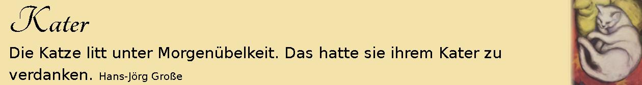 Kater ~ Aphorismen ~ Hans-Jörg Große | Franz Marc