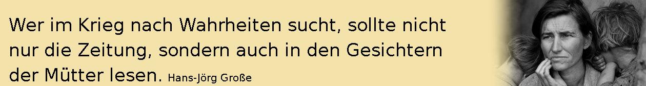 Wahrheiten ~ Aphorismen ~ Hans-Jörg Große | Dorothea Lange
