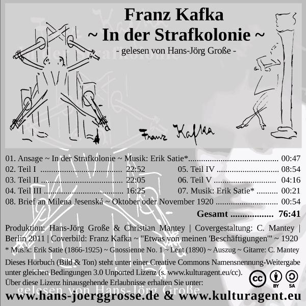 Franz-Kafka ~ In der Strafkolonie gelesen von Hans-Jörg Große