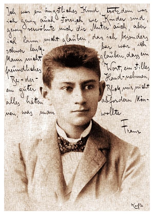 Franz Kafka ~ Brief an den Vater | Postkarte von Christian Mantey