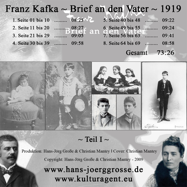 Franz Kafka ~ Brief an den Vater | Cover: Christian-Mantey |Berlin 2009