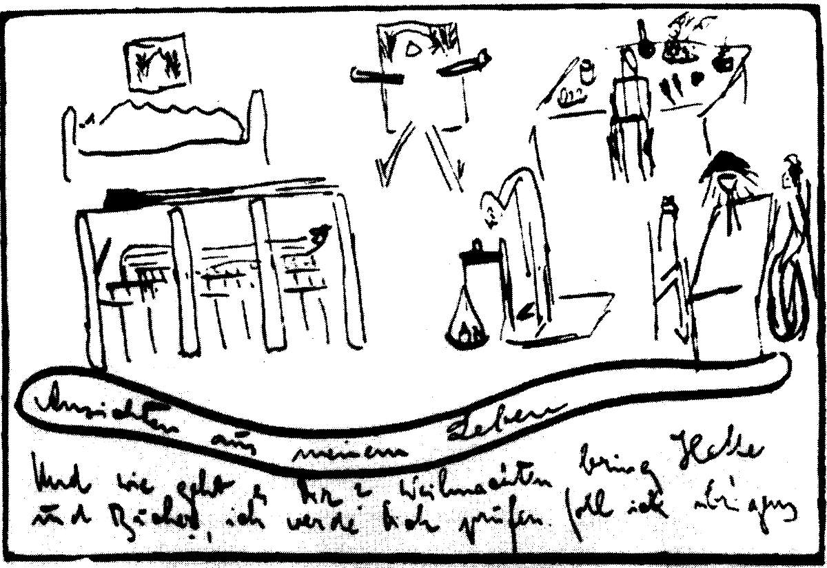 Franz Kafka - Postkarte an Ottla Dezember 1918 - Bilder aus meinem Leben