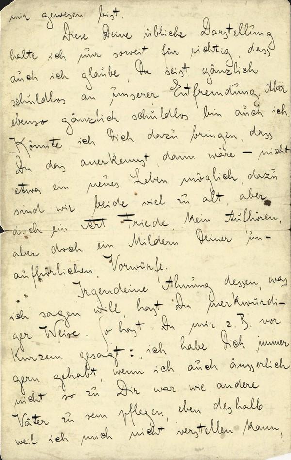 Franz Kakfa ~ Brief an den Vater ~ Seite 004