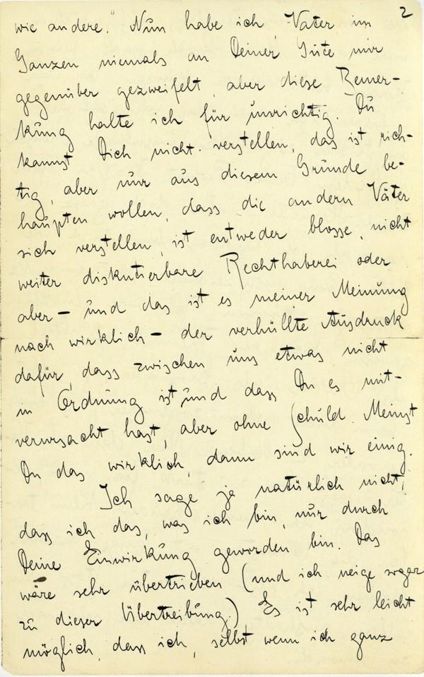 Franz Kakfa ~ Brief an den Vater ~ Seite 005