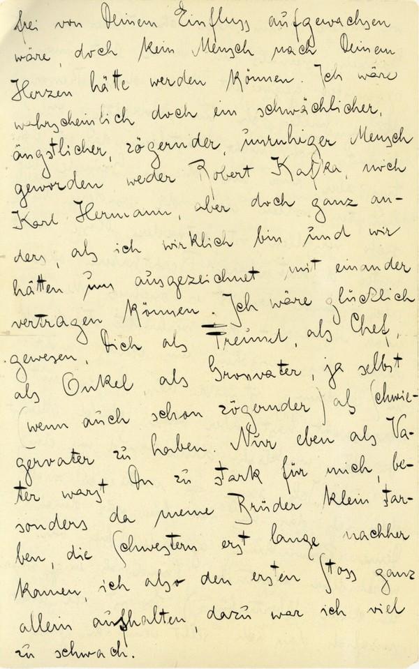 Franz Kakfa ~ Brief an den Vater ~ Seite 006