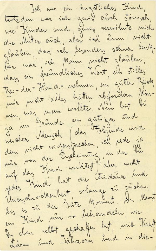 Franz Kakfa ~ Brief an den Vater ~ Seite 010