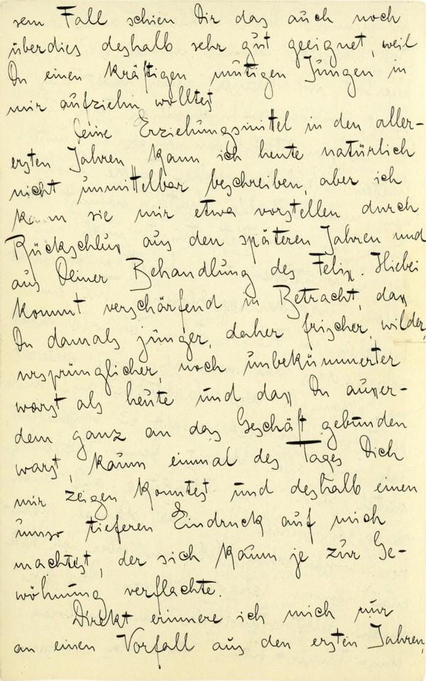 Franz Kakfa ~ Brief an den Vater ~ Seite 011