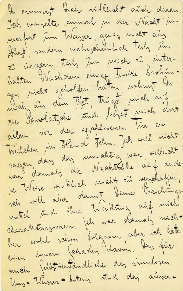 Franz Kakfa ~ Brief an den Vater ~ Seite 012