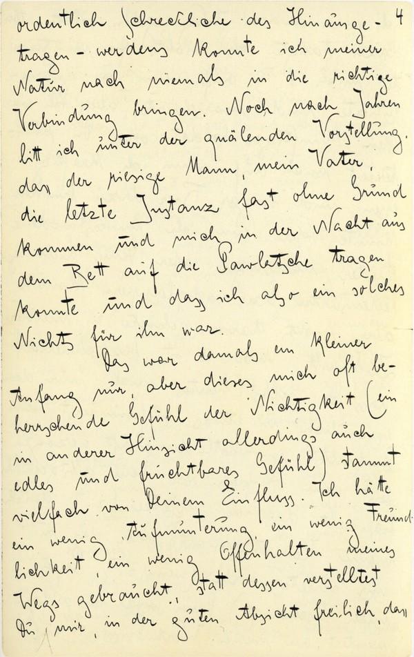 Franz Kakfa ~ Brief an den Vater ~ Seite 013