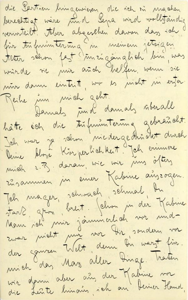 Franz Kakfa ~ Brief an den Vater ~ Seite 015