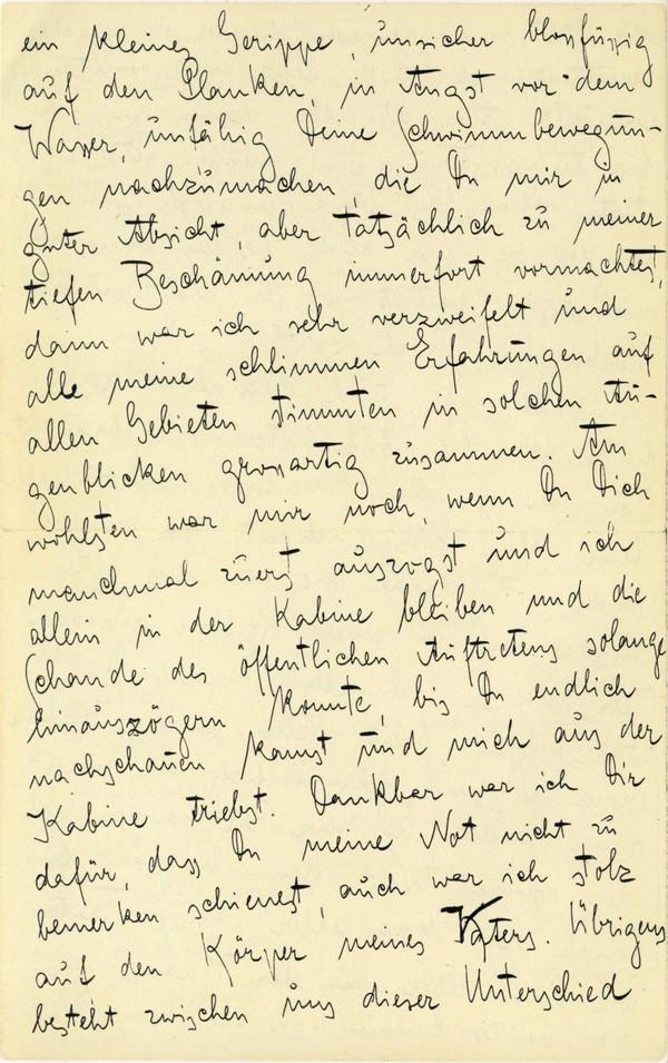 Franz Kakfa ~ Brief an den Vater ~ Seite 016