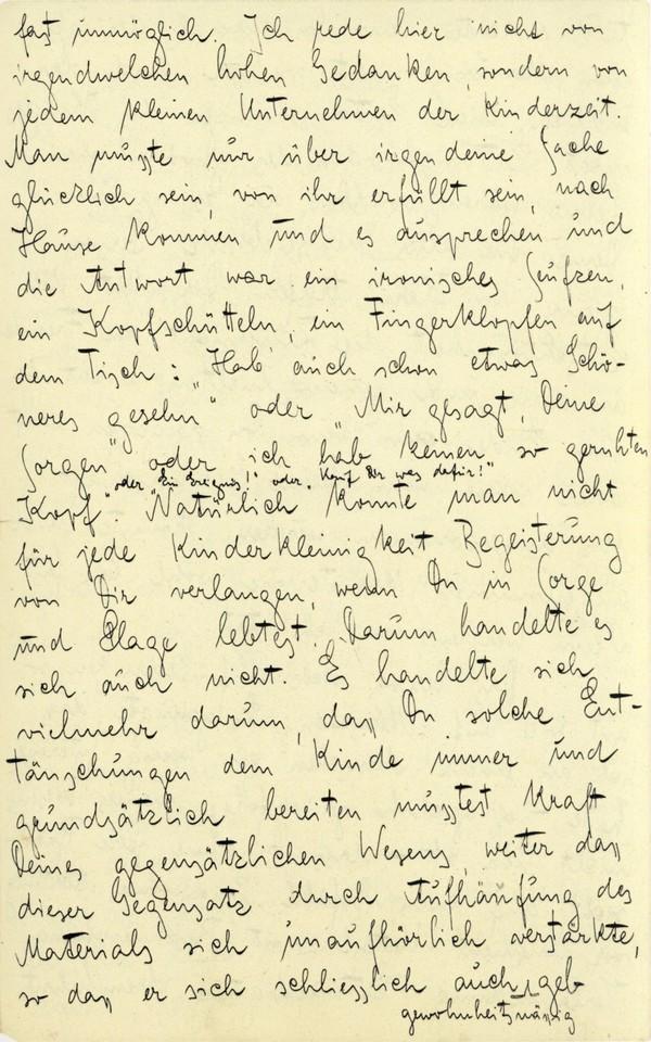 Franz Kakfa ~ Brief an den Vater ~ Seite 019