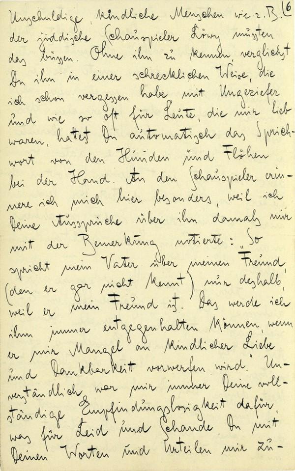 Franz Kakfa ~ Brief an den Vater ~ Seite 021