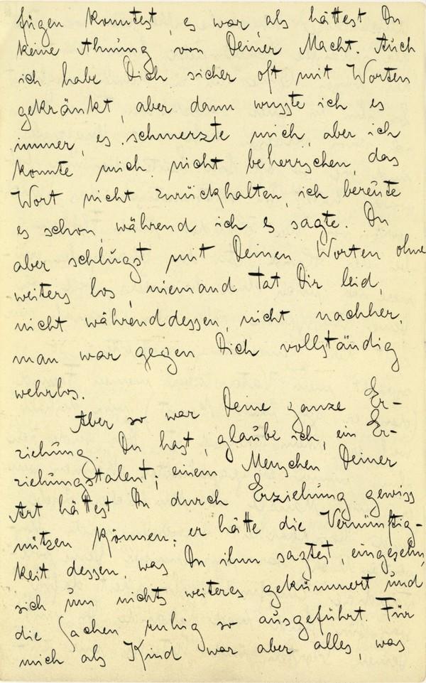 Franz Kakfa ~ Brief an den Vater ~ Seite 022