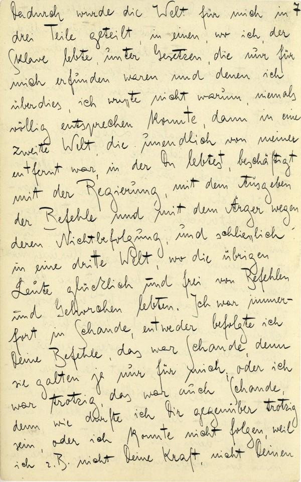 Franz Kakfa ~ Brief an den Vater ~ Seite 025