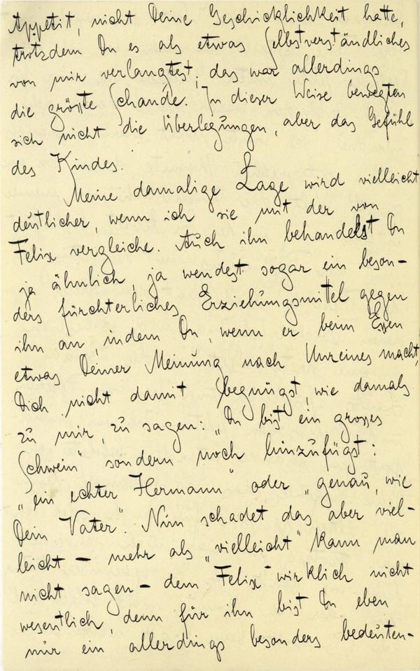 Franz Kakfa ~ Brief an den Vater ~ Seite 026