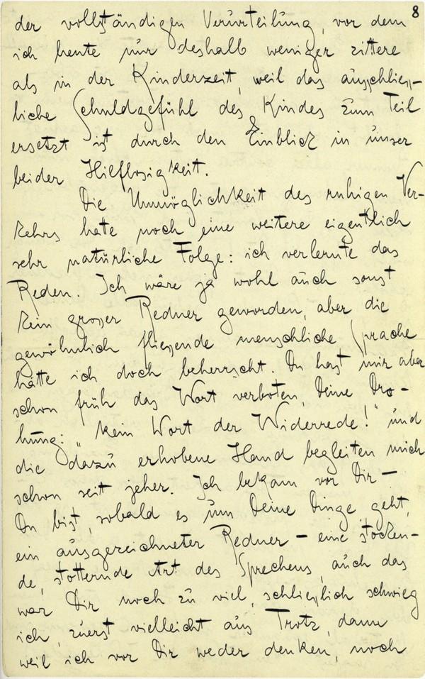 Franz Kakfa ~ Brief an den Vater ~ Seite 029