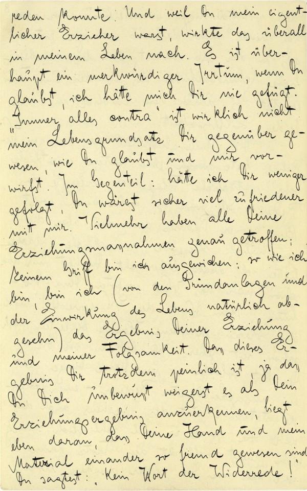 Franz Kakfa ~ Brief an den Vater ~ Seite 030