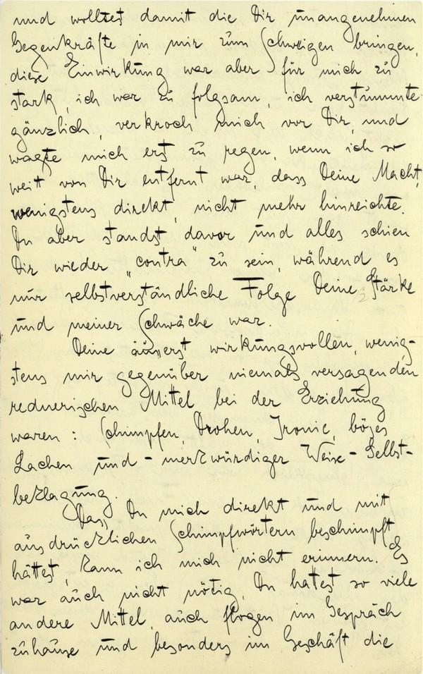 Franz Kakfa ~ Brief an den Vater ~ Seite 031