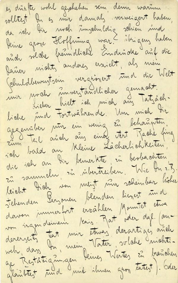 Franz Kakfa ~ Brief an den Vater ~ Seite 040