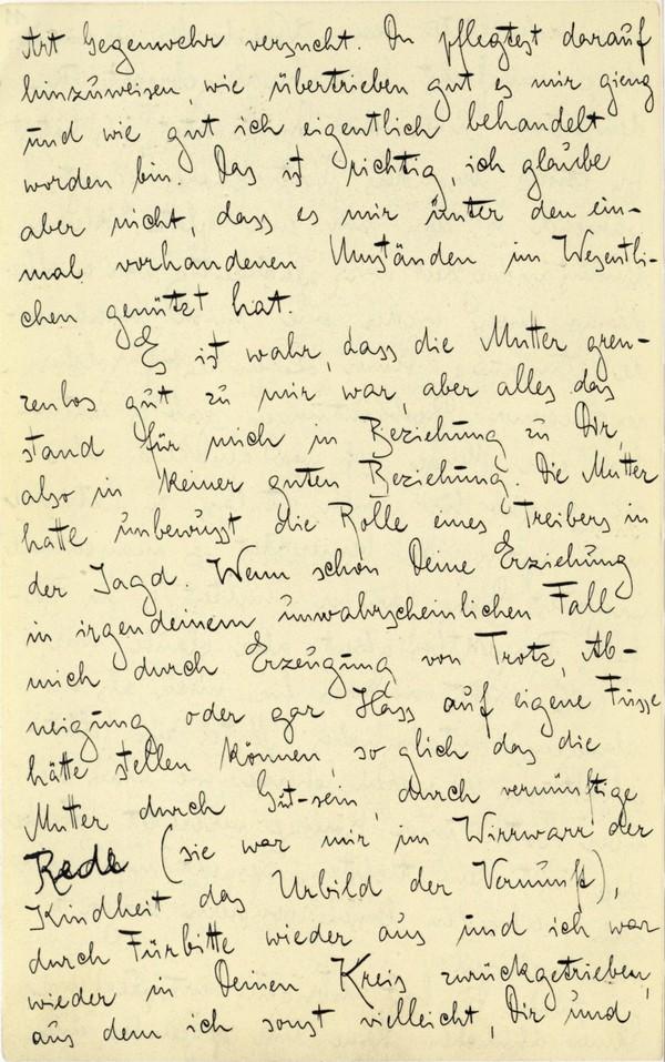 Franz Kakfa ~ Brief an den Vater ~ Seite 042