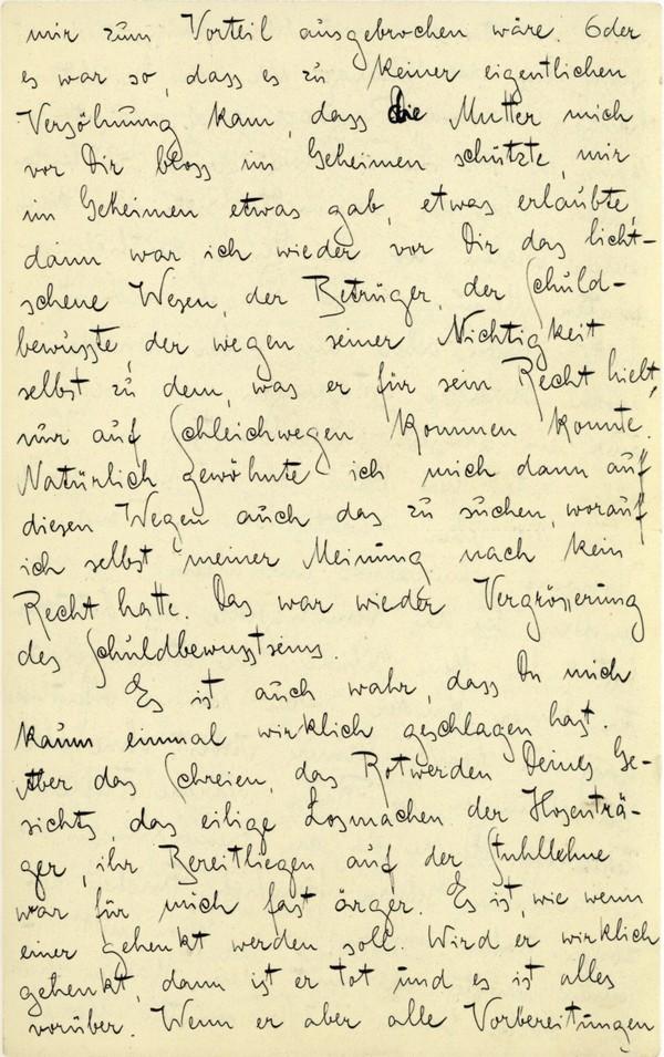 Franz Kakfa ~ Brief an den Vater ~ Seite 043