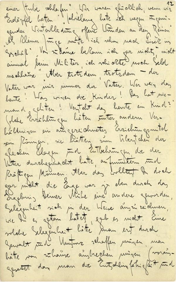 Franz Kakfa ~ Brief an den Vater ~ Seite 045