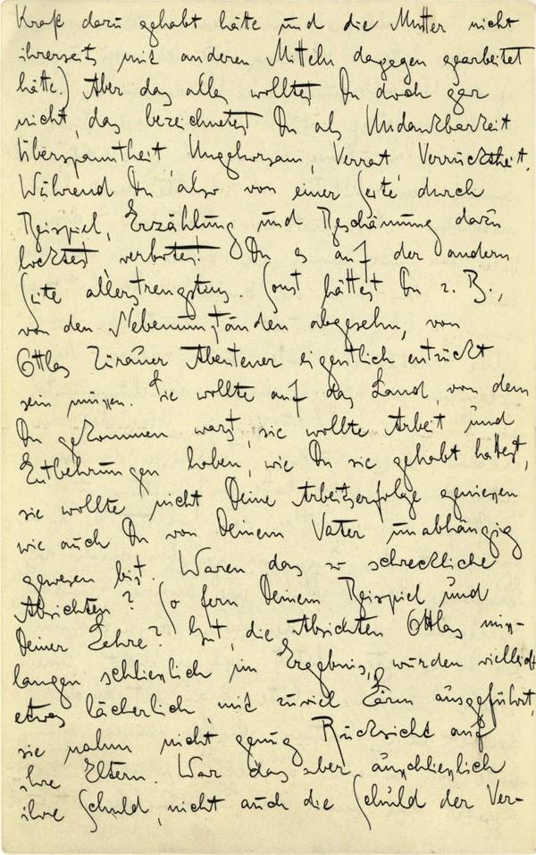Franz Kakfa ~ Brief an den Vater ~ Seite 046