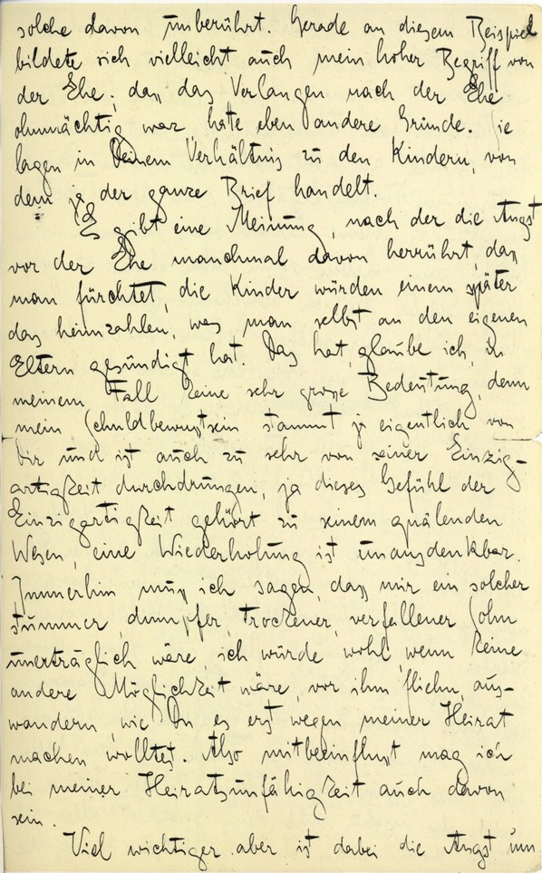 Franz Kakfa ~ Brief an den Vater ~ Seite 095