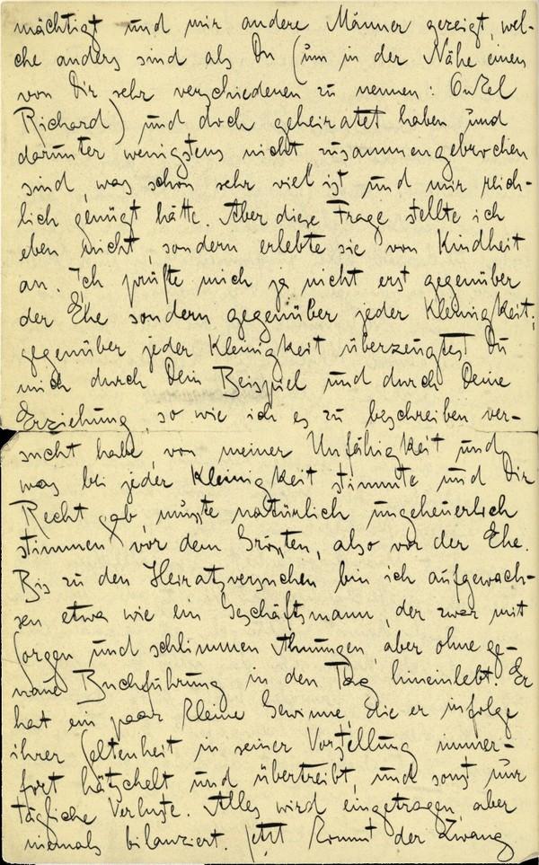 Franz Kakfa ~ Brief an den Vater ~ Seite 098
