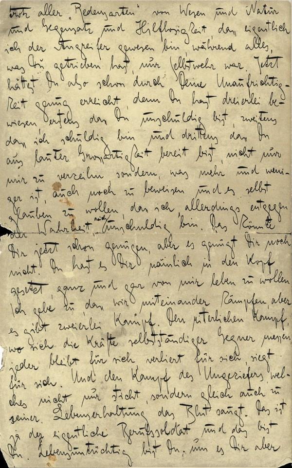 Franz Kakfa ~ Brief an den Vater ~ Seite 100