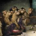 Gabriel von Max ~ Affen mit Hut und Frucht