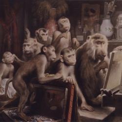 Gabriel von Max ~ Der Atelierbesuch