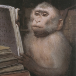 Gabriel von Max ~ Lesender Affe