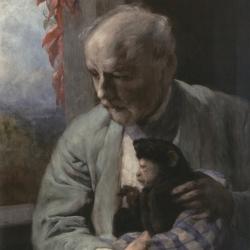 Gabriel von Max ~ Selbstbildnis mit Affen