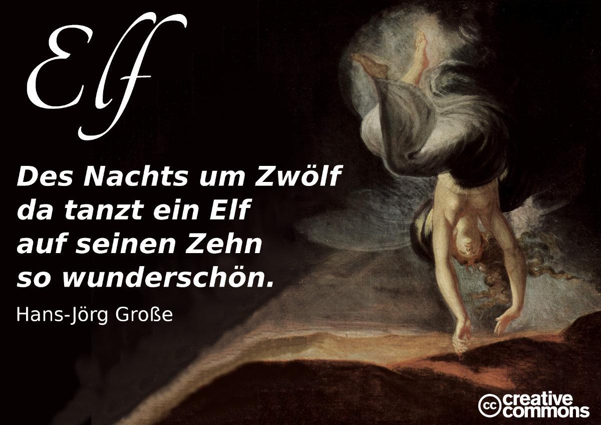 Elf ~ Vierzeiler ~ Hans-Jörg Große