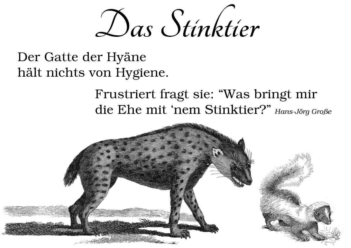 Stinktier ~ Vierzeiler ~ Hans-Jörg Große